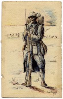 2 courriers insolites de la grande guerre - Dessin de poilu ...